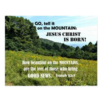 How beautiful on the mountains-Christmas Postcard