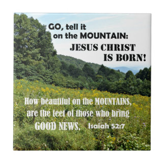 How beautiful on the mountains-Christmas Tile