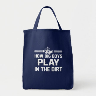 How Big Boys Play In Dirt Four Wheeling Tote Bag
