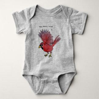 How Birds Wave Cardinal Baby Bodysuit