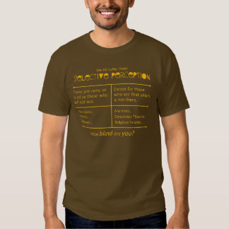 How blind are you? t-shirts