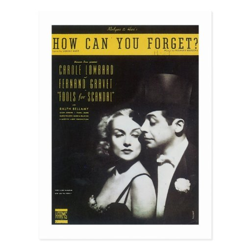 How Can You Forget? Vintage Songbook Cover Post Cards