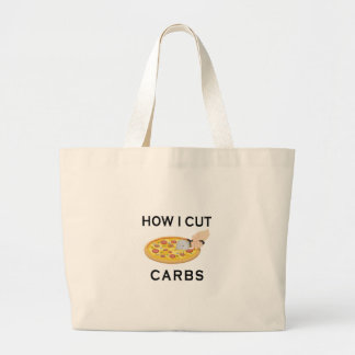 HOW CUT CARBS LARGE TOTE BAG