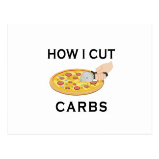 HOW CUT CARBS POSTCARD