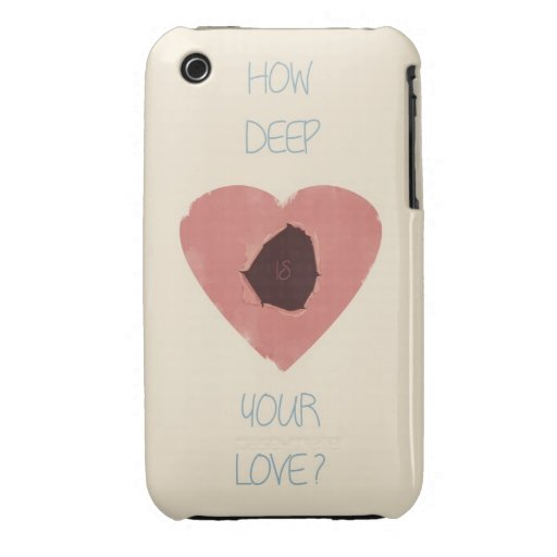 how deep is your love Case-Mate iPhone 3 cases