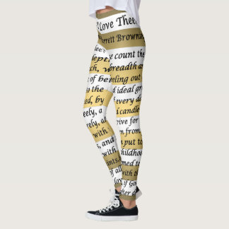 How Do I Love Thee? ~ Let Me Count The Ways ~ Leggings