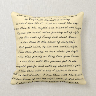 """How Do I Love Thee?"" Poetry Pillow Parchment"