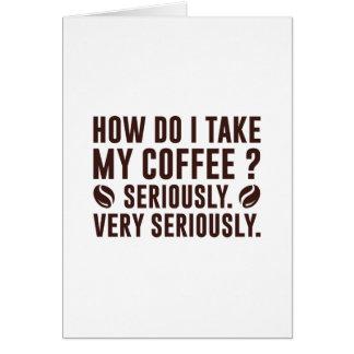 How Do I Take My Coffee Card
