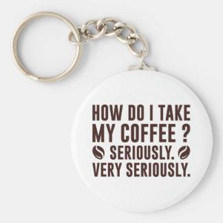 How Do I Take My Coffee Key Ring