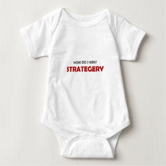 How Do I Win Strategery Red 1B Baby Bodysuit