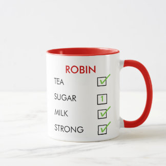 How do you like your tea customized check box mug