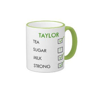 How do you like your tea personalized checkbox mug
