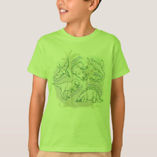 How do you say Dinosaurs boys t-shirt