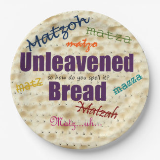 How Do You Spell Matzah Paper Plate for Passover