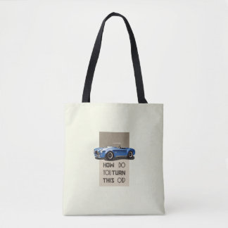 How do you turn this on blue cobra car tote bag