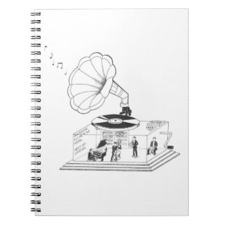 How does a Gramophone actually work? Spiral Notebook