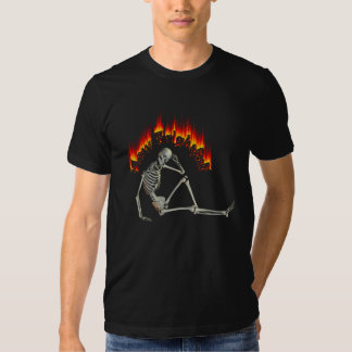 How Frightful Funny Laid Back Skeleton T Shirt