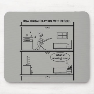 How Guitar Players Meet People Mouse Pad