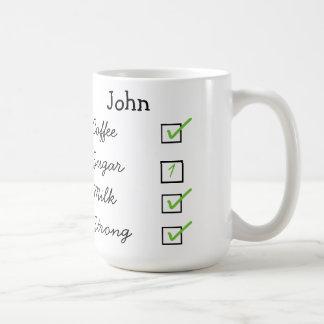How I like my coffee personalised mug
