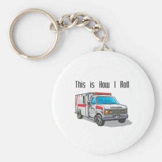 How I Roll Ambulance Basic Round Button Key Ring