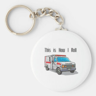 How I Roll Ambulance Keychain