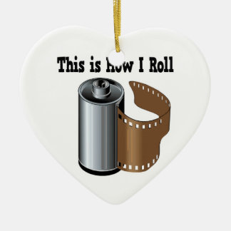 How I Roll Camera Film Christmas Ornaments