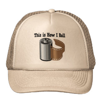 How I Roll Camera Film Mesh Hats