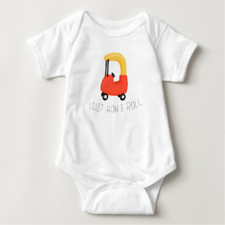 """""""How I Roll"""" Funny Play Baby Bodysuit"""