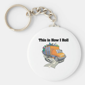How I Roll (Garbage Truck) Basic Round Button Key Ring