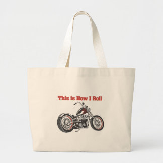 How I Roll Motorcycle Tote Bag