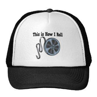 How I Roll Movie Film Tape Mesh Hat