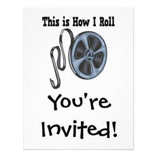 How I Roll Movie Film Tape Invitations