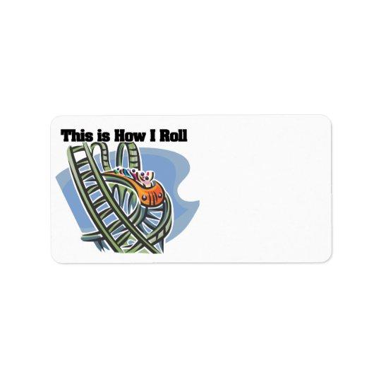 How I Roll (Roller Coaster) Address Label