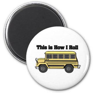 How I Roll (School Bus) Fridge Magnets