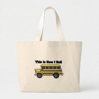 How I Roll (School Bus) Jumbo Tote Bag