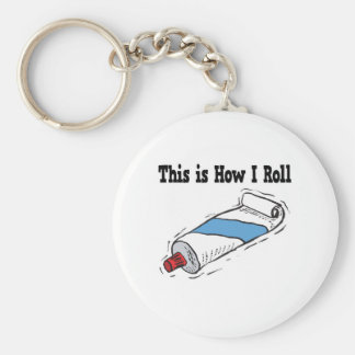 How I Roll Toothpaste Tube Basic Round Button Key Ring