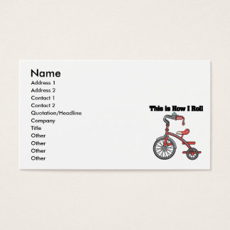 How I Roll (Tricycle) Business Card