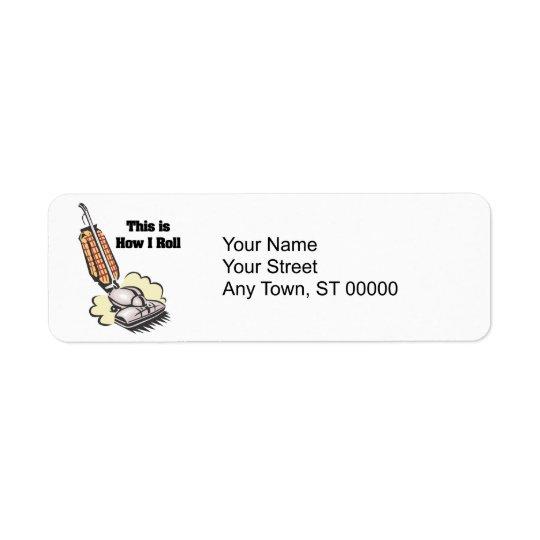 How I Roll (Vacuum Cleaner) Return Address Label
