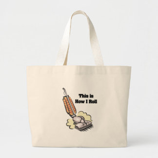 How I Roll (Vacuum Cleaner) Jumbo Tote Bag