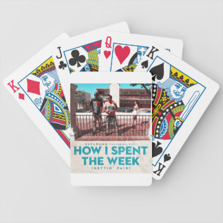 How I Spent the Week (Gettin' Paid) Cover Bicycle Playing Cards