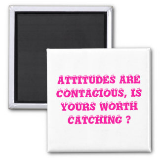 HOW IS YOUR ATTITUDE? SQUARE MAGNET