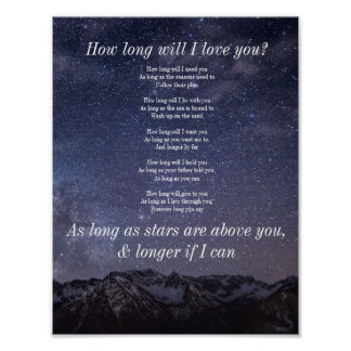 How long will I love you? poster
