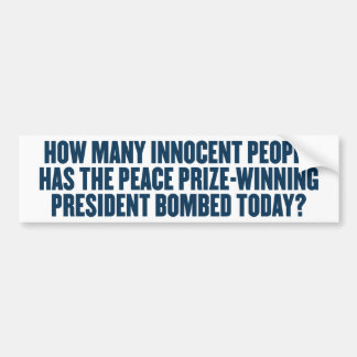 How Many Bombed Today Bumper Sticker