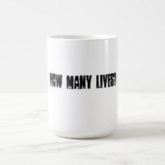How Many Lives Mug (Black & White)
