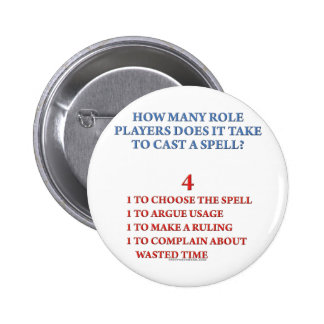 How Many Players to Cast a Spell 6 Cm Round Badge