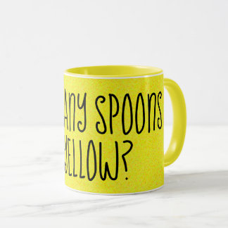 HOW MANY SPOONS OF YELLOW Fun Mug