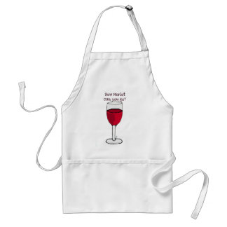 HOW MERLOT CAN YOU GO? wine print by jill Standard Apron