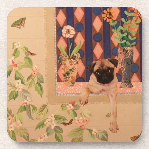 How Much is that Doggie in the Window?: Pug Pup Beverage Coaster