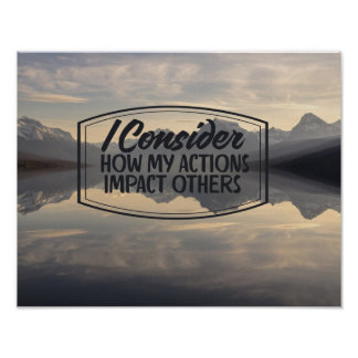 How My Actions Impact Others Poster