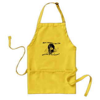 How naughty can I be Standard Apron